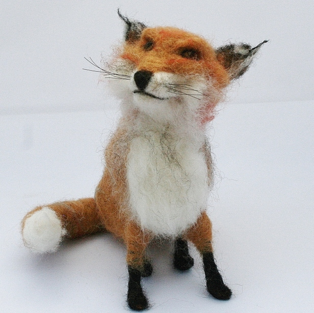 Fully poseable fox